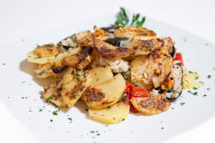 """La """"taiedda"""" di Riso, patate e cozze"""